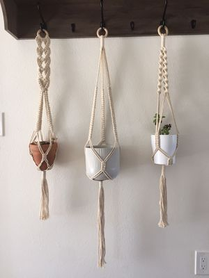 Three macrame plant holders for Sale in Carlsbad, CA