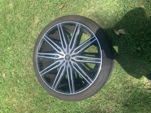 22in 5 lug rims and tires for sale. for Sale in Hampton, VA