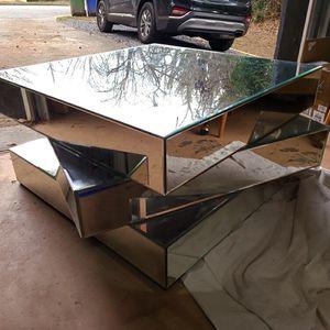 Beveled, Mirrored Coffee Table for Sale in Atlanta, GA