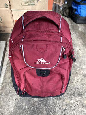 High Sierra travel backpack with wheels for Sale in Bellevue, WA