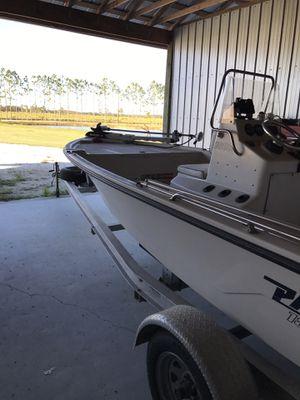 Pathfinder 18/9 runs great 90hp new fish finder power poll trolling motor 2011 aluminum trailer 2001 boat for Sale in Kenansville, FL