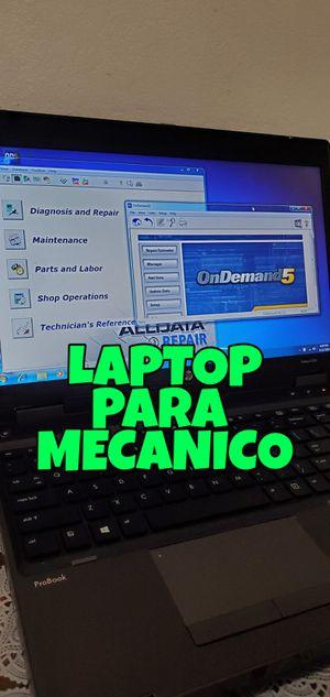 Dell laptop Mitchell&alldata ,mecanicos, windows 10 for Sale in Huntington Park, CA