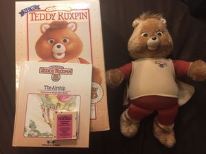 Vintage Teddy Ruxpin animatronic talking doll bear. for Sale in Chino, CA