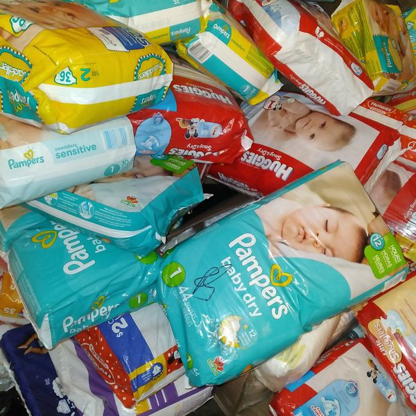 Pampers In Bags Size 123 , Wipes