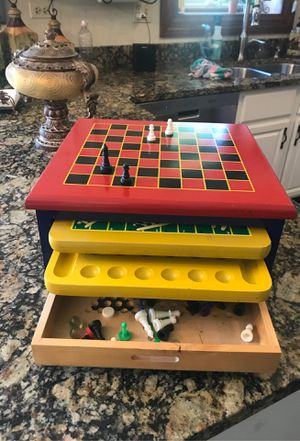 Board Game Set - 6 in 1 Wood Game Center for Sale in Bolingbrook, IL