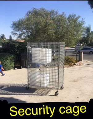 Security cage on wheels. Can be locked 🔒 easy to move. Can hold hundreds of pounds for Sale in Ontario, CA