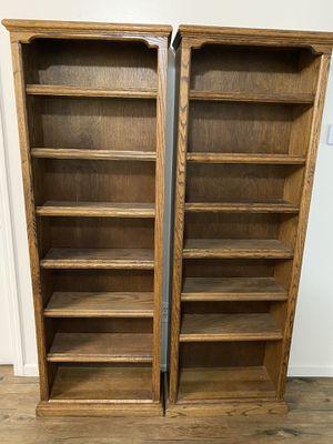 Pair of Oak Bookshelves for Sale in Visalia, CA