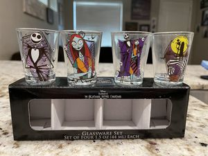 The Nightmare Before Christmas Glassware Set of Four Brand New for Sale in Mesa, AZ