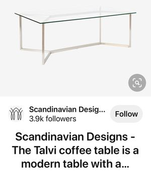 Scandinavian Designs Glass Coffee Table for Sale in Woodland Hills, CA