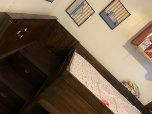 Twin bed with stairs on side for Sale in Milwaukee, WI