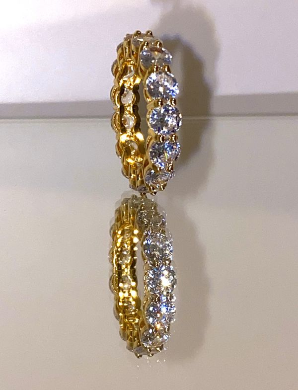 14 k gold filled tennis ring sizes 6-9 available simulated diamonds.