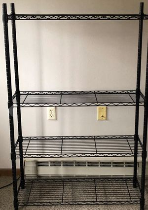 New Black Metal 4 Wire Rack Shelving for Sale in Matthews, NC