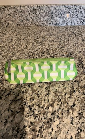Makeup Brush Bag - green geometric (Clinique) for Sale in Cleveland, OH