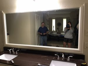 Bathroom Mirror with trim 6ft x 3ft for Sale in Arlington, TX