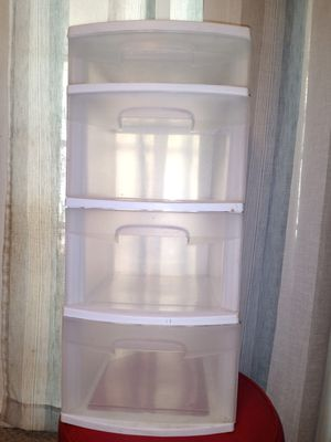 4 drawer plastic storage unit for Sale in Burlington, NC