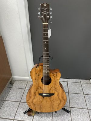 Luna Accoustic Electric Guitar with Soft Case for Sale in Lakeland, FL