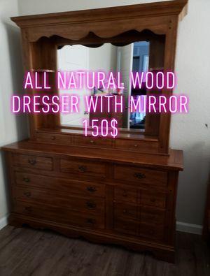 Wood dresser for Sale in Dallas, TX