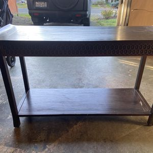 Hand-Carved Console And Entry Table Set for Sale in Seattle, WA