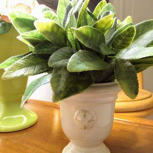 Plant & Flower Mini Pot / Urn / Planter w Green Leaf Plant for Sale in West Palm Beach, FL