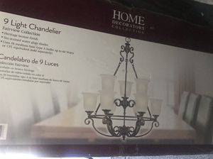 Brand new Home Decorators collection Fairview 9 lights heritage Bronze Chandelier for Sale in Arcadia, CA