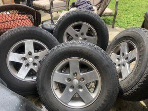 2006 Jeep Wrangler wheel n tires for Sale in La Vergne, TN