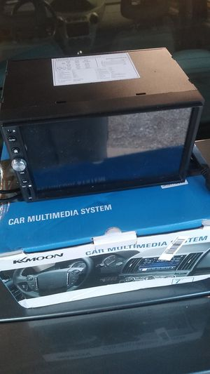 Kkmoon k5980 double din car radio with Android auto apple carplay for Sale in Medina, OH