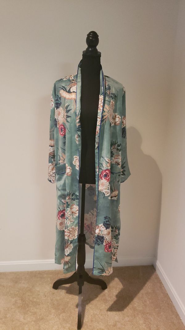 Floral Maxi Kimono - Onesize