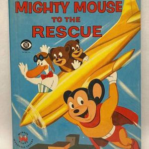 Vintage 1958 children's Wonder Book Mighty Mouse to the Rescue by Barbara Waring for Sale in Phoenix, AZ