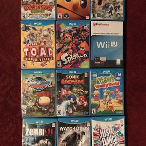 12—-NINTENDO WII U Games (excellent Condition ) for Sale in Wheaton, IL