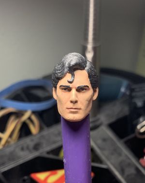 (HEADSCULPT ONLY) Christopher Reeve Superman painted headsculpt (for Mezco One:12 action figure toy) for Sale in Spring, TX