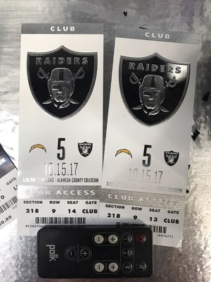 Raider tickets for Sale in Lodi, CA