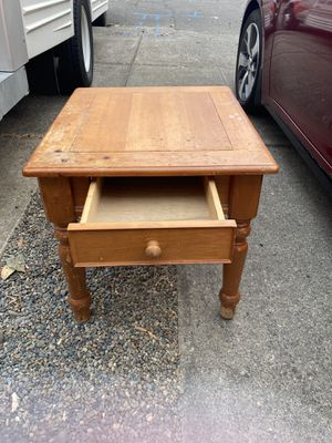 Sturdy Side Table w/ Drawer for Sale in Portland, OR