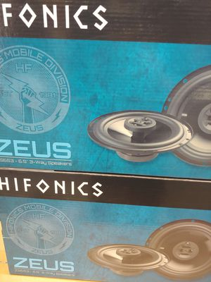 Hifonics (total 2 pairs) hifonics 6.5 inch 3 way 300 watts car speakers brand new for Sale in Santa Ana, CA