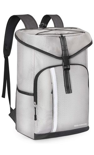 SEEHONOR Insulated Cooler Backpack Leakproof Soft Cooler Bag Lightweight Backpack Cooler with Bottle Opener for Lunch Picnic Hiking Camping Beach Fis for Sale in Kansas City, MO