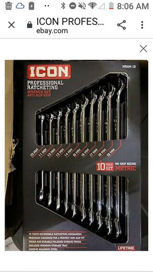 Icon 10 Peice Professional Metric Wrench Set for Sale in Oklahoma City, OK