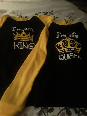 King and Queen sweatshirts. Women fits s/m...Mens fits M/L for Sale in Philadelphia, PA