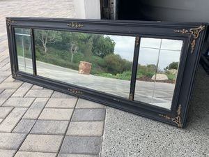 Gorgeous Antique French etched glass mirror for Sale in Anaheim, CA