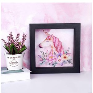 Unicorn Gifts Unicorn LED Luminous Wall Hanging 3D Magic Night Lamp Photo Frame Lamp Unicorn Gift Party Supplies USB/Battery Opearted Lamp Living Roo for Sale in Montebello, CA
