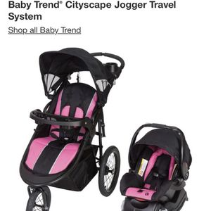 Baby Trend Cityscape Jogger Stroller Travel System + Car Seat With Base + Protection Plan! NEW!!! (receipt) for Sale in Miami, FL