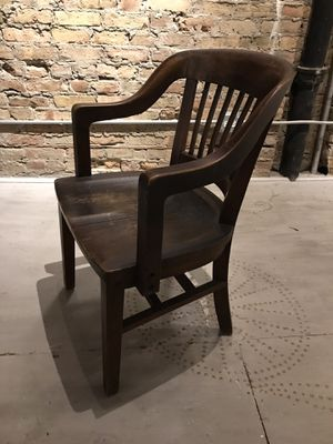 Classic antique banker's office desk Chair - as is for Sale in Chicago, IL