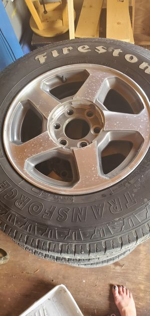 225 75/R16 Firestone tires and rims. FITS 2005 trailblazer . Tires are decent... for Sale in Miromar Lakes, FL