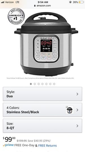 Instant pot pressure cooker for Sale in Norwalk, CA