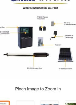 Single Swing Automatic Gate Opener Kit with 10-Watt Solar Panel byEstate Swing for Sale in San Marcos,  TX