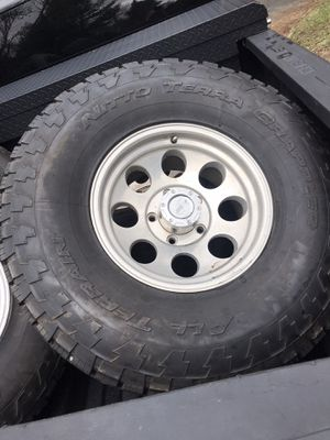 """35"""" nitto terra grapplers on 5x4.5 lug pattern for Sale in Dartmouth, MA"""