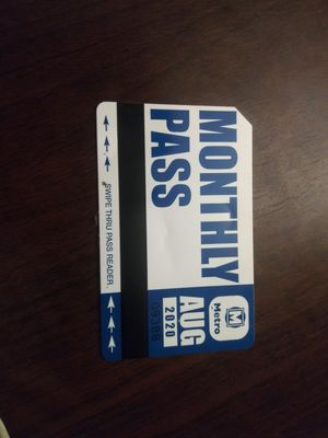 Monthly bus pass for AUGUST for Sale in Fenton, MO