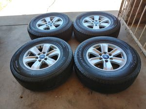 265 70 17 very good set tires with rims Ford f150 expedition 6 lugs tires continental have good tread left for Sale in Phoenix, AZ