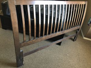 Back board with bed Frame for Sale in El Paso, TX