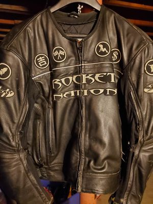 Rocket nation leather motorcycle jacket for Sale in Cumberland, RI