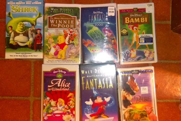 Vhs Disney Classics with VCR