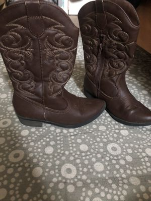 Girls cowboy boots size 4 for Sale in Oceanside, CA